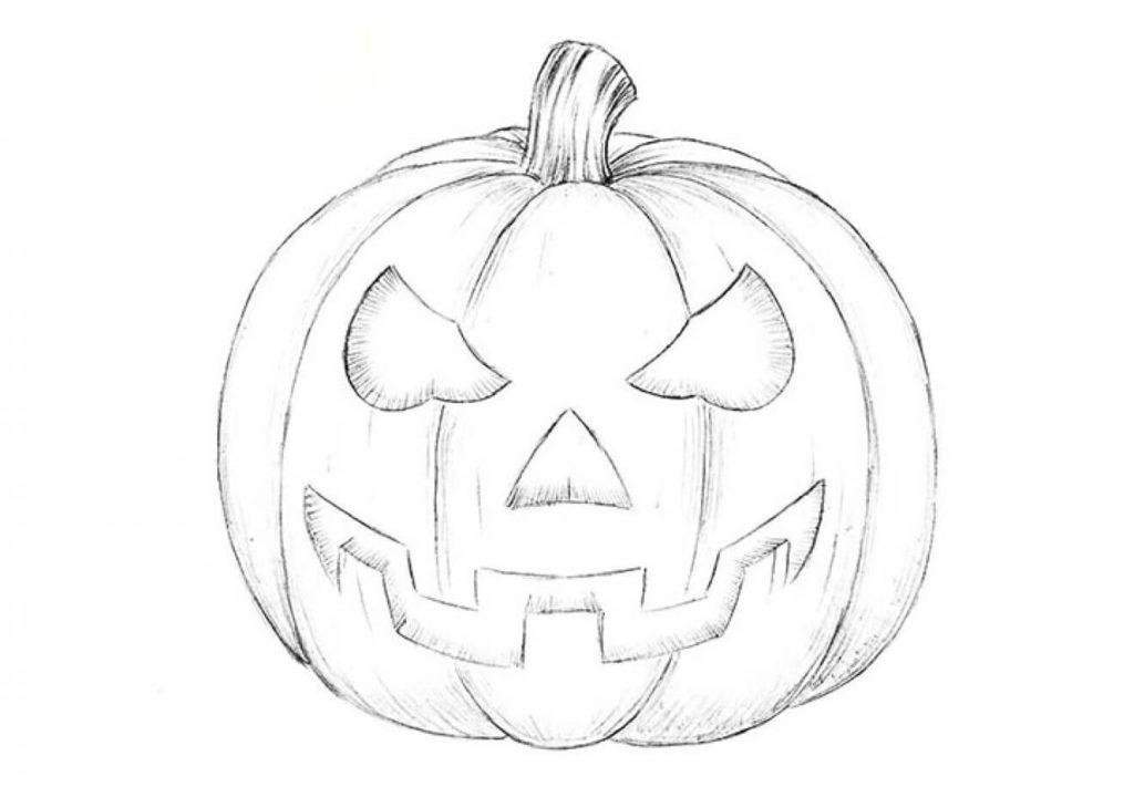 картинки на хэллоуин для срисовки карандашом