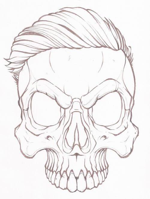 череп для срисовки