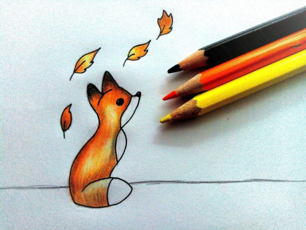 фото лисы для срисовки