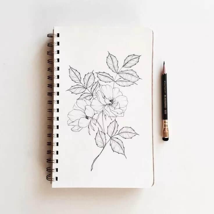 красивые рисунки легкие для срисовки в блокнот
