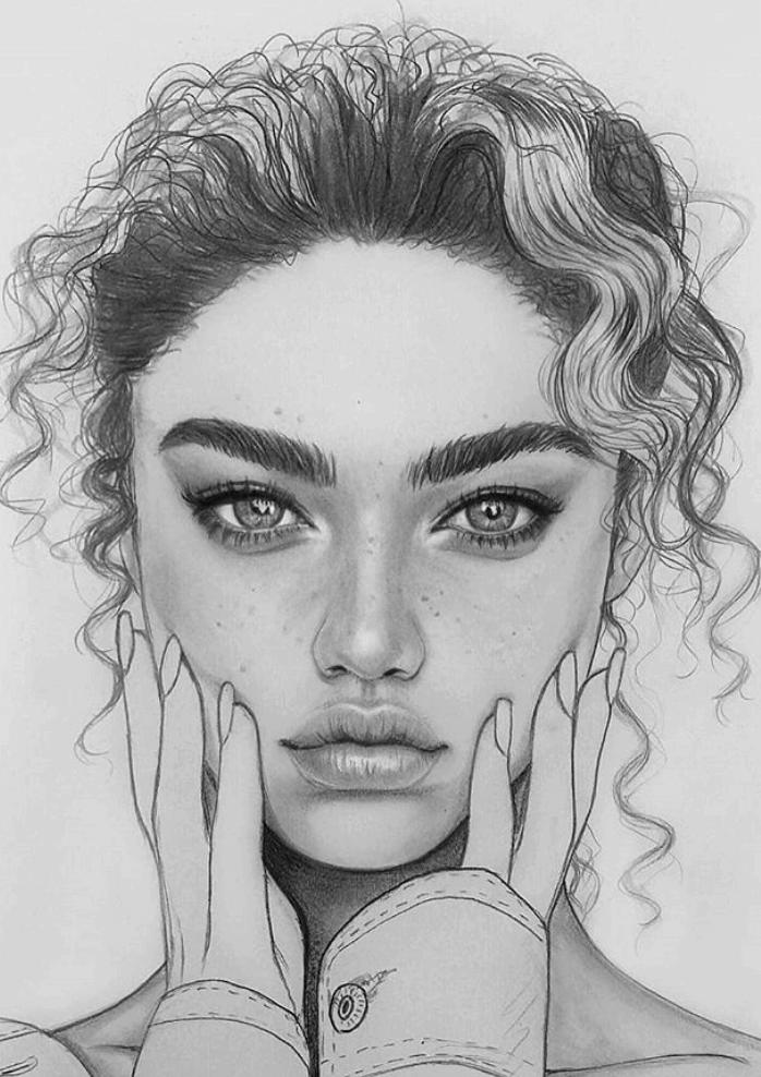 портреты людей для срисовки