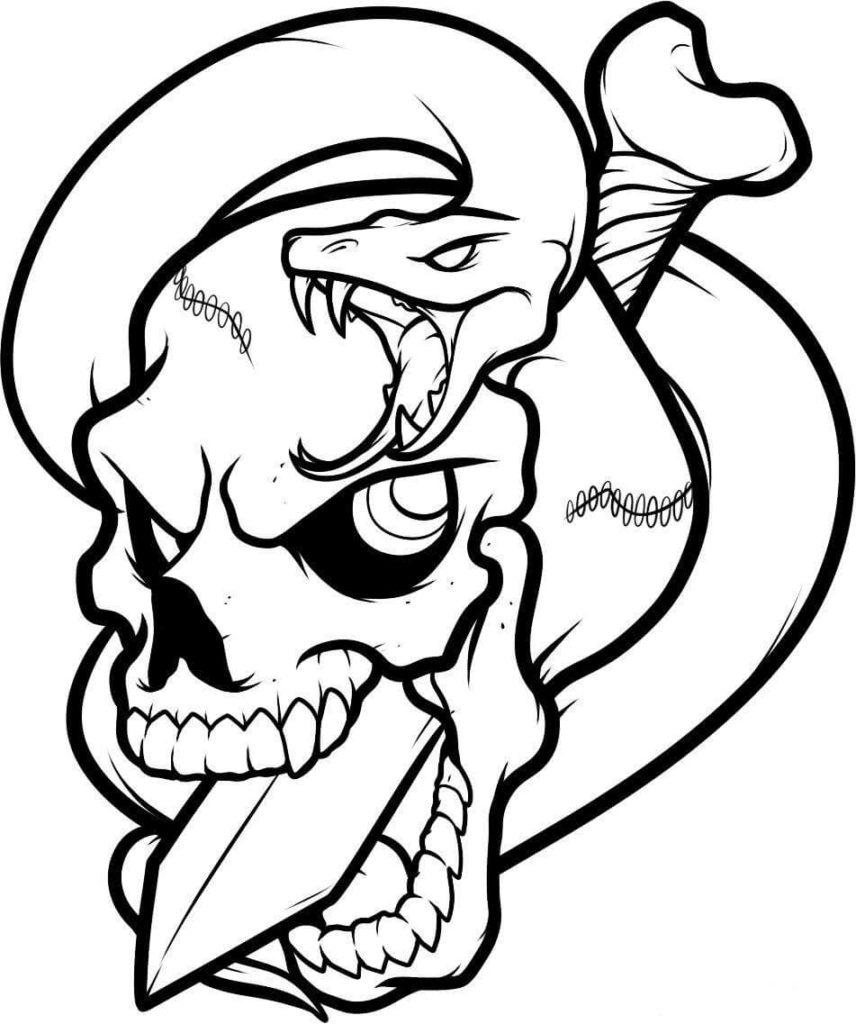картинки черепа для срисовки