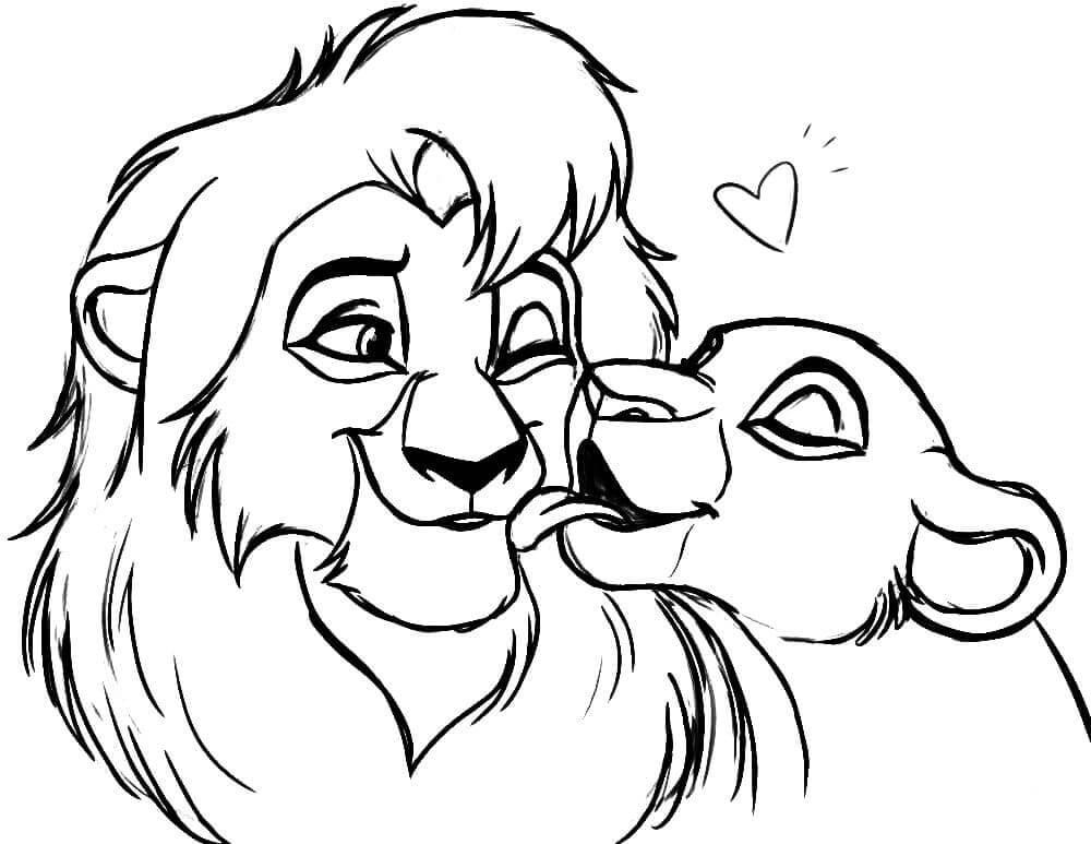 картинки льва для срисовки легкие
