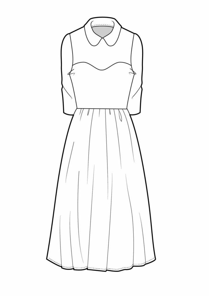 рисунки платьев для срисовки