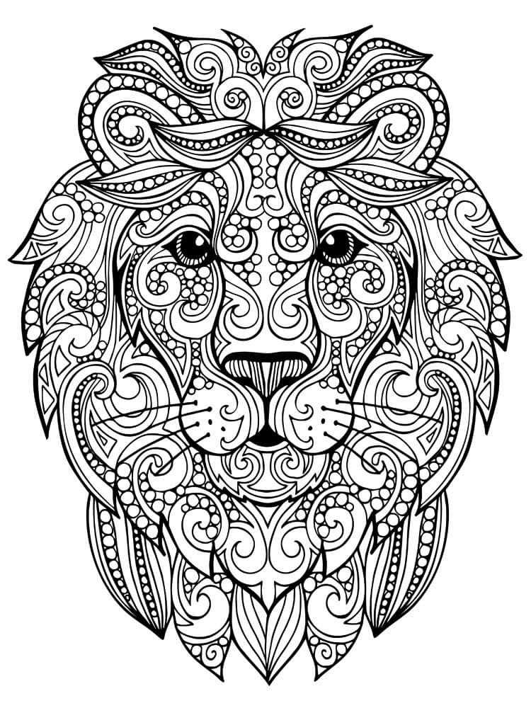 картинки антистресс для срисовки легкие лев