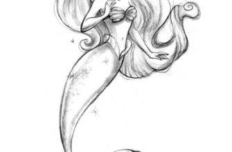 рисунок русалки для срисовки