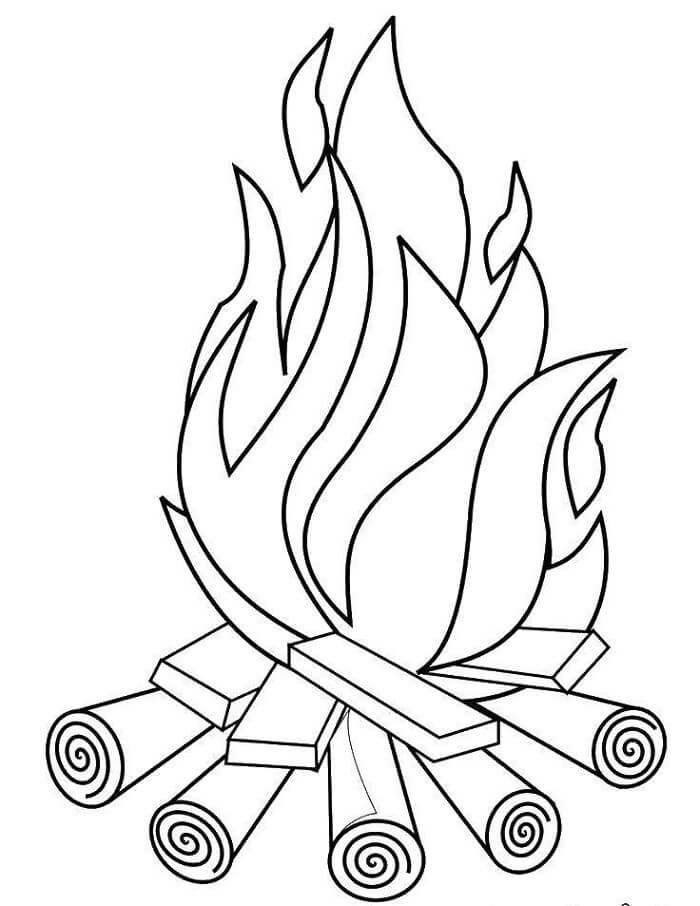 картинки огня для срисовки карандашом