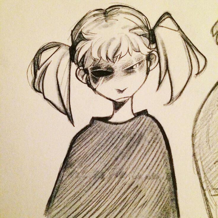 картинки салли фейс для срисовки лёгкие