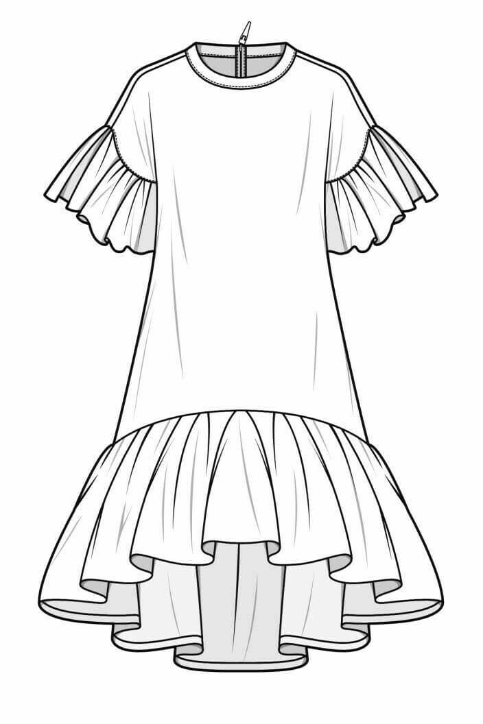 Платья для срисовки