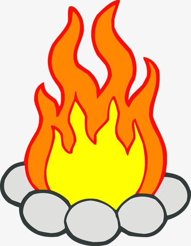картинки огня для срисовки