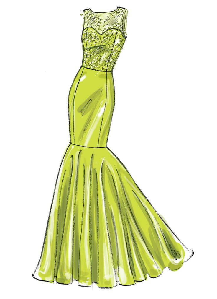 красивые платья для срисовки