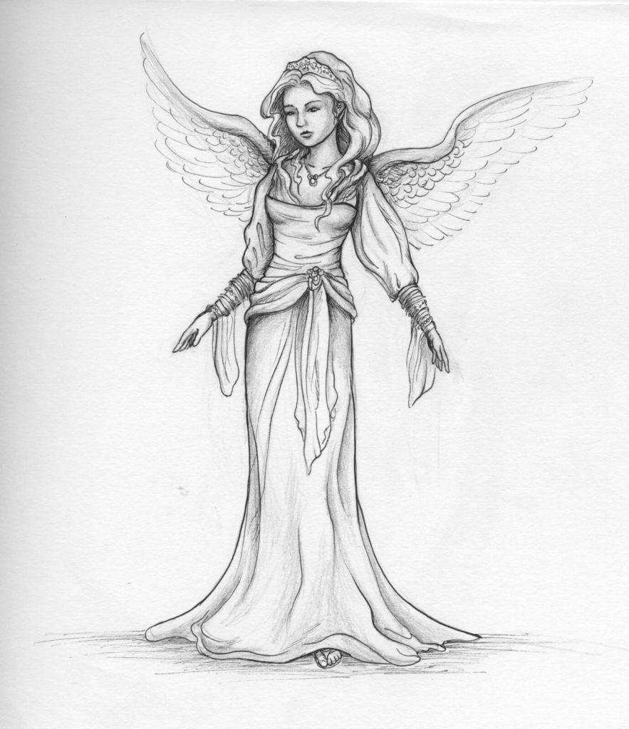 рисунки для срисовки ангел