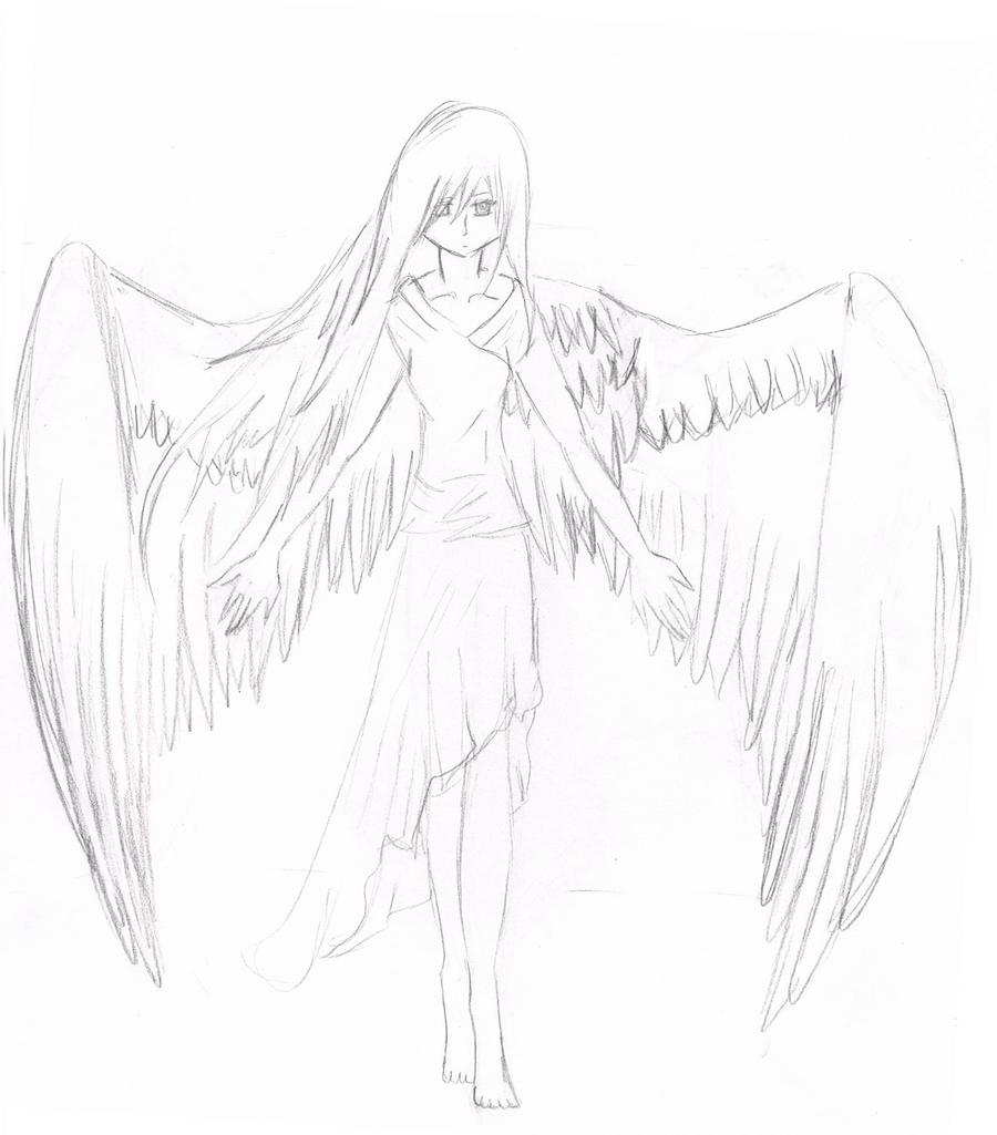 картинки ангелов для срисовки