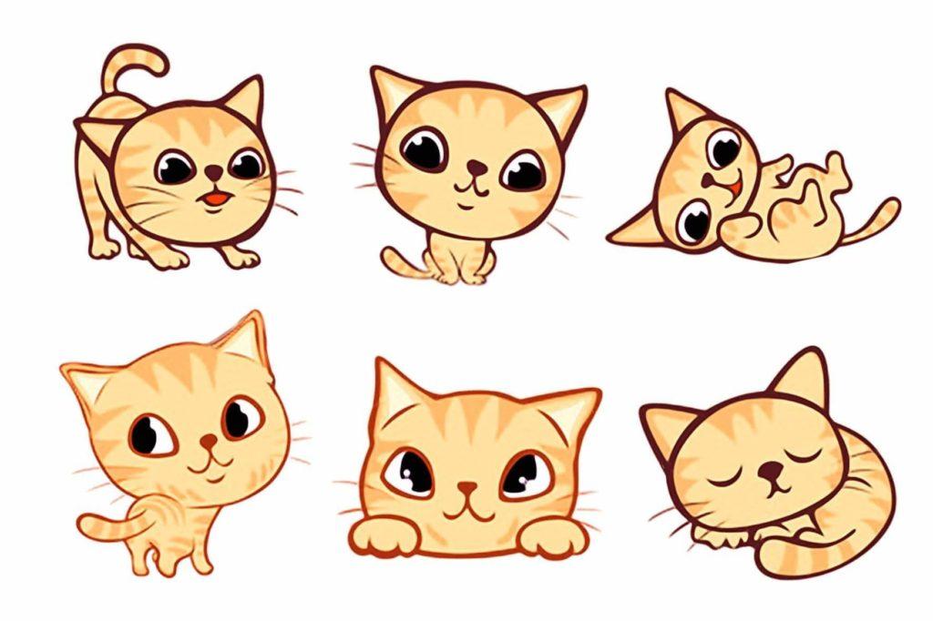 мордочка кошки для срисовки легкие