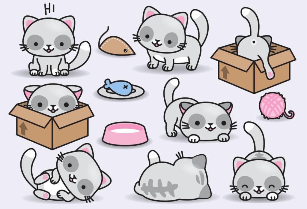 мордочка кошки для срисовки простые