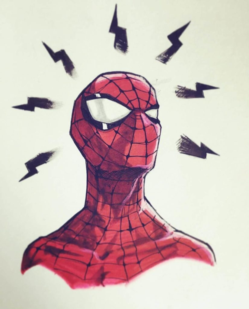 рисунки для срисовки супергерои