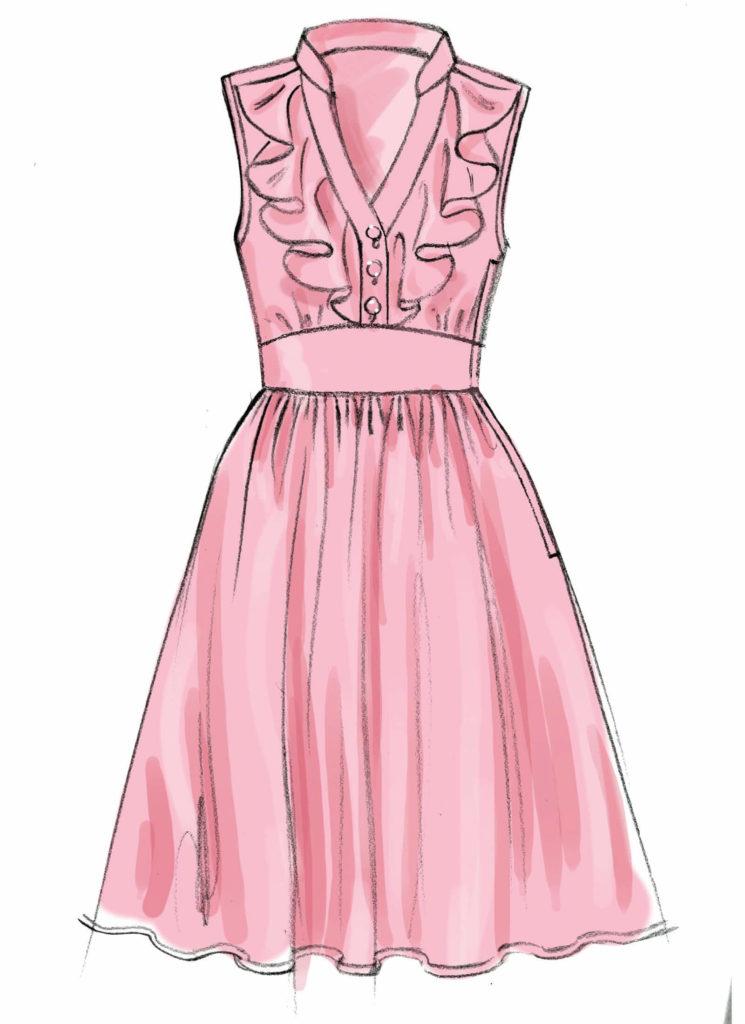картинки для срисовки легкие платья