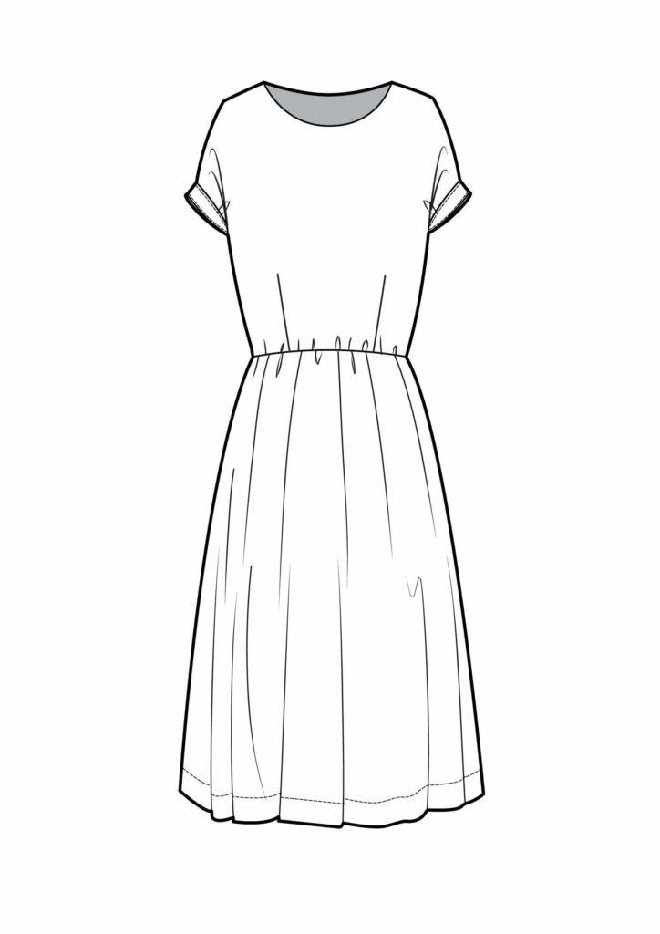 платья для срисовки легкие