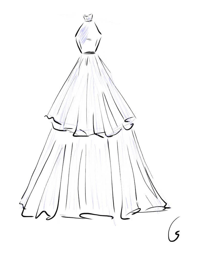 картинки для срисовки платья
