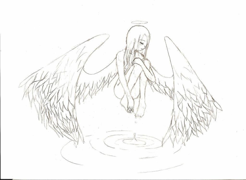 рисунки для срисовки ангелы и демоны