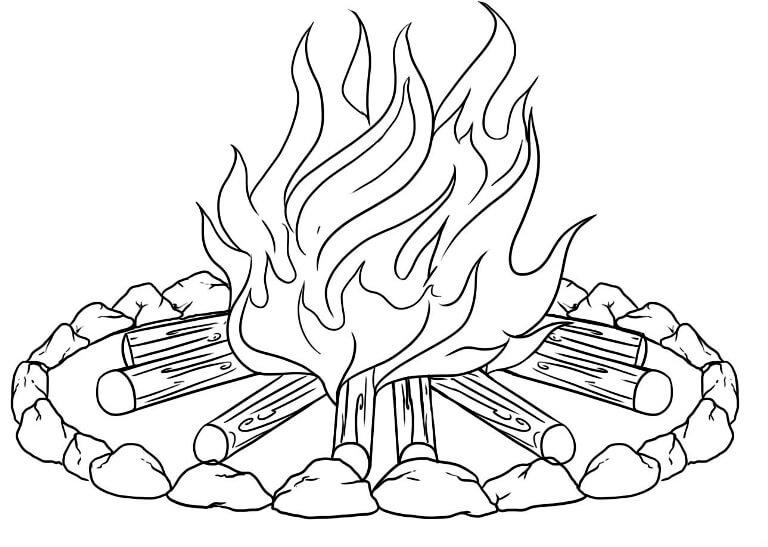 картинки огня для срисовки легкие
