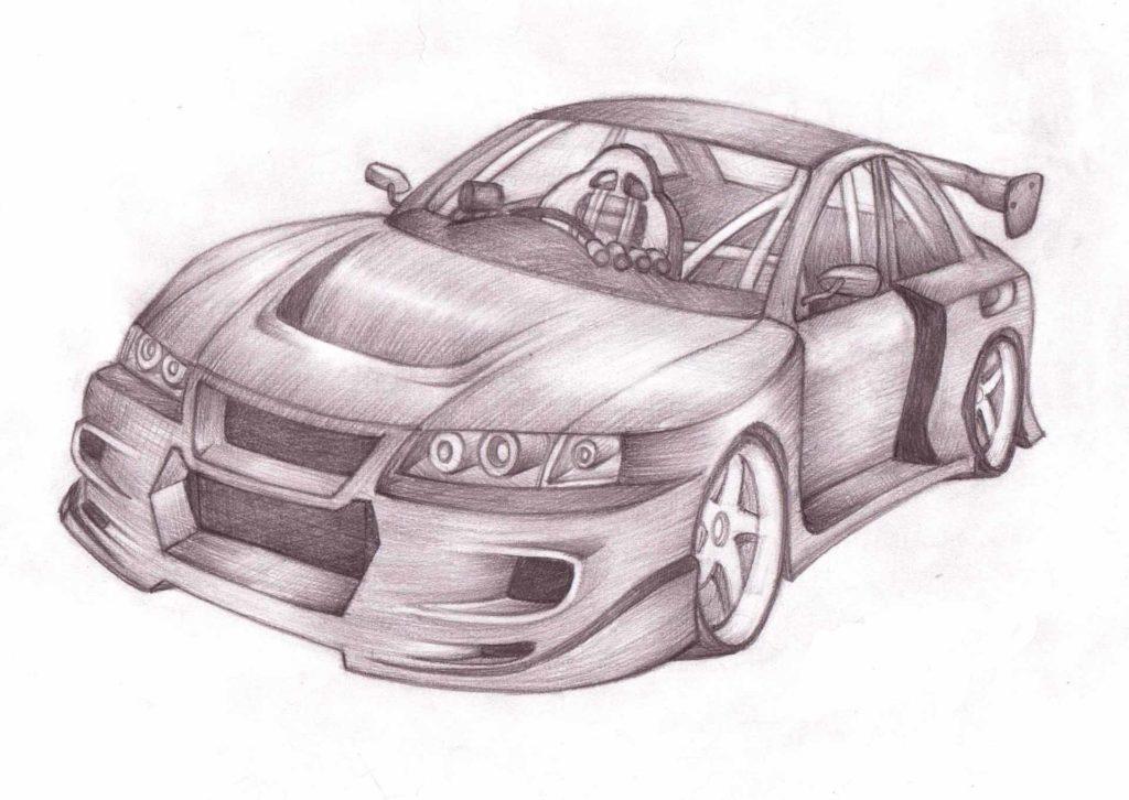 картинки для срисовки машины