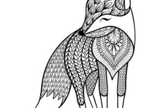 рисунки антистресс легкие для срисовки для начинающих лиса