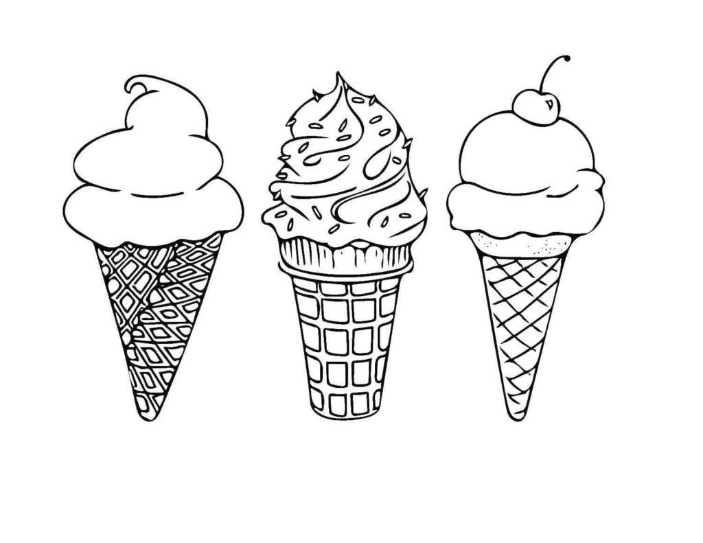 мороженое для срисовки