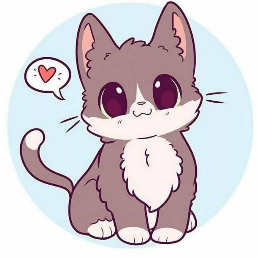 рисунки котята милые и смешные для срисовки
