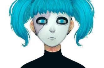 салли фейс арты для срисовки синие глаза