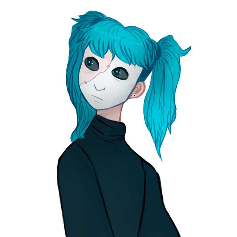 салли фейс рисунки для срисовки в маске