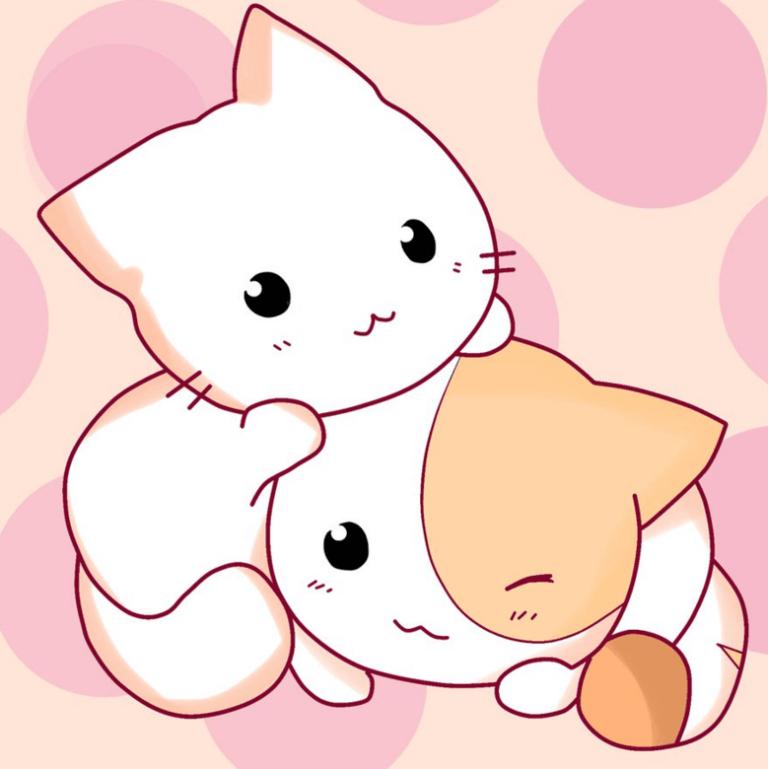 рисунки котята милые и смешные для срисовки два