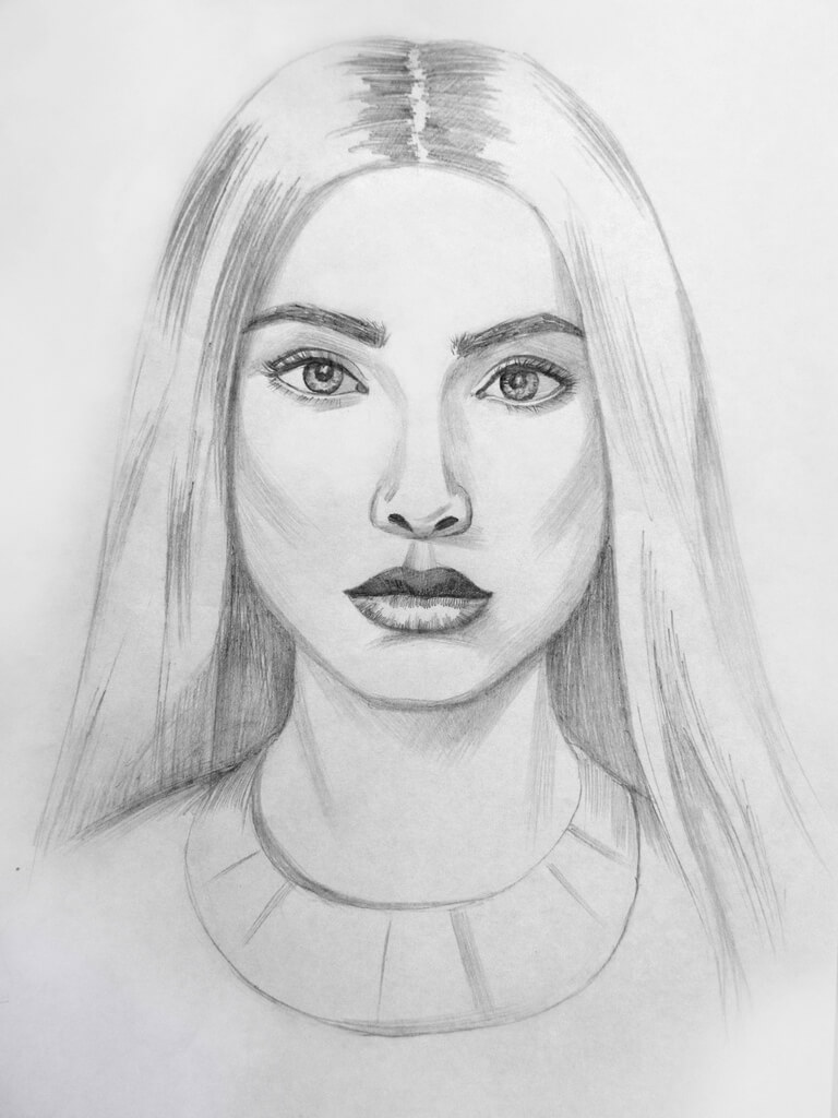 Рисунки девушки для срисовки