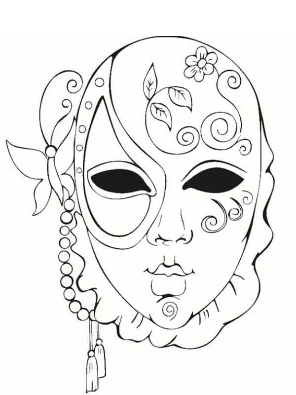 картинки для срисовки маски легкие