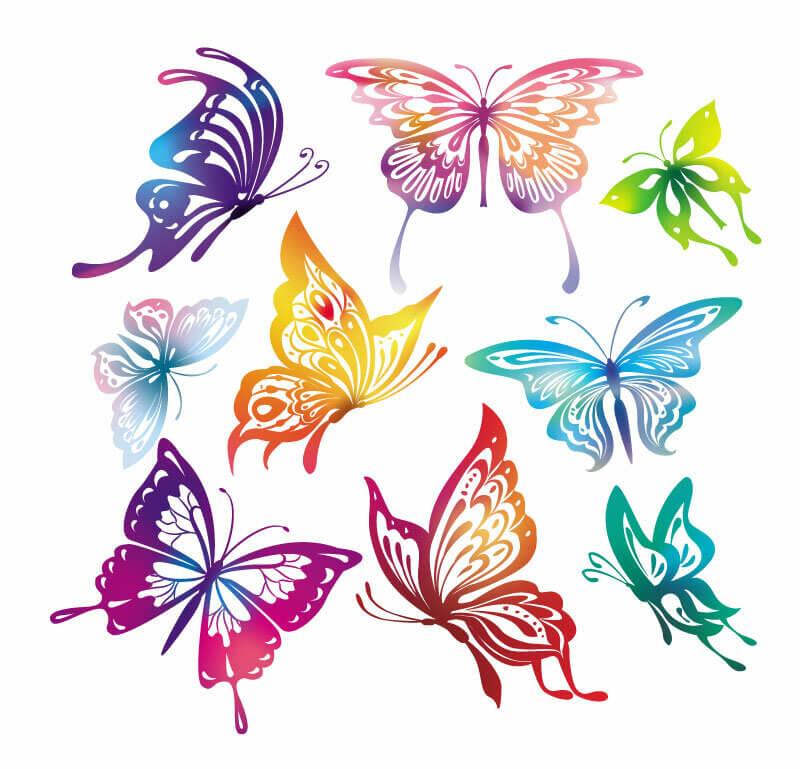 рисунки для срисовки бабочки