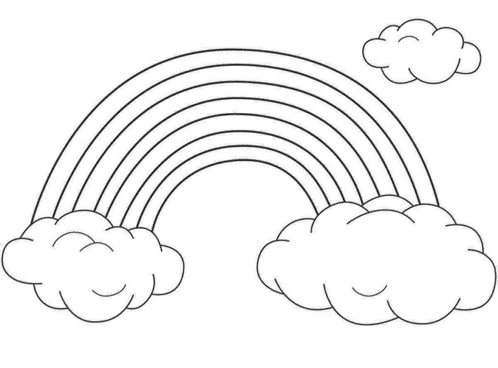 рисунки радуги для срисовки