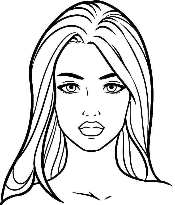 простые портреты для срисовки красивые