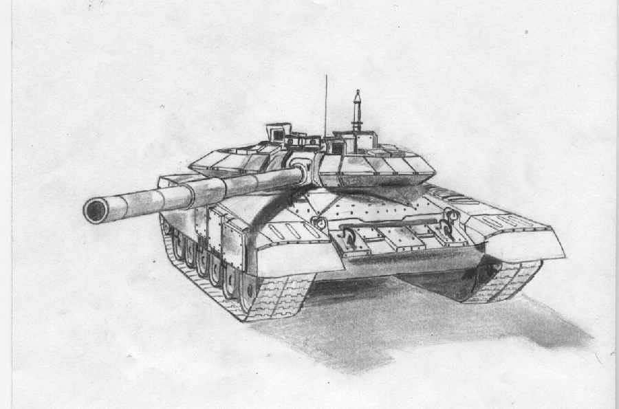 танк для срисовки легкие