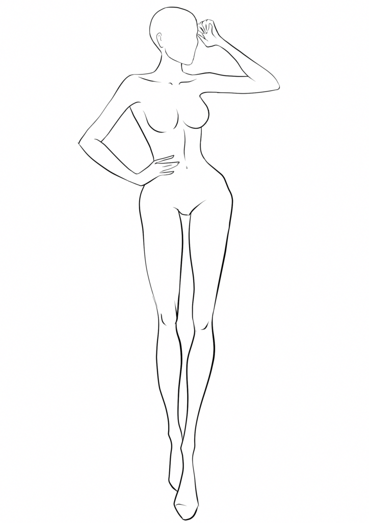 картинки тела для срисовки легкие и понятные