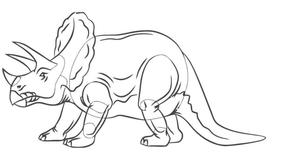 рисунки для срисовки динозавры мультышные