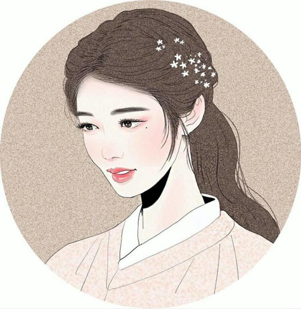 корейские картинки для срисовки девушек