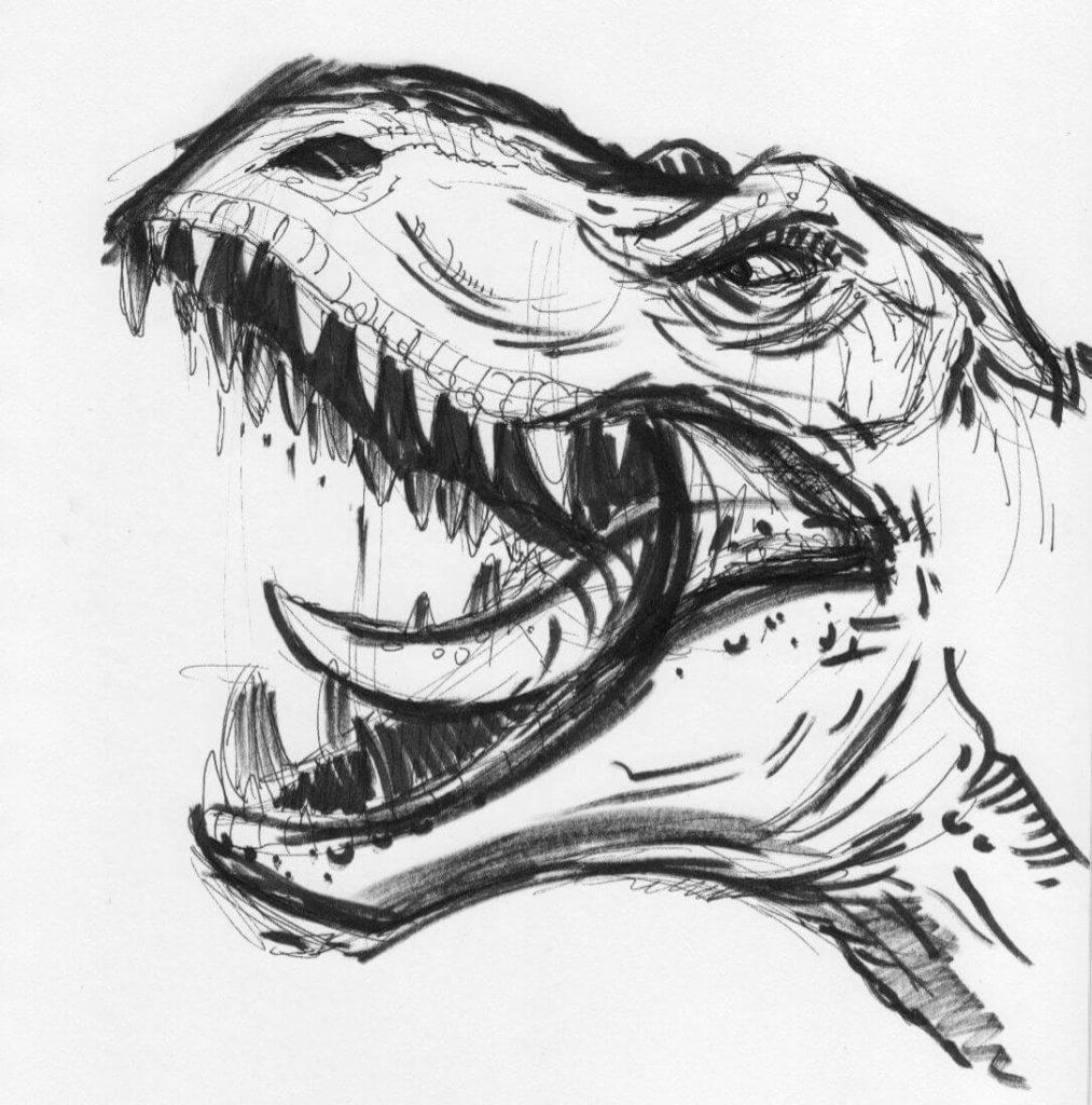 рисунки для срисовки динозавры красивые