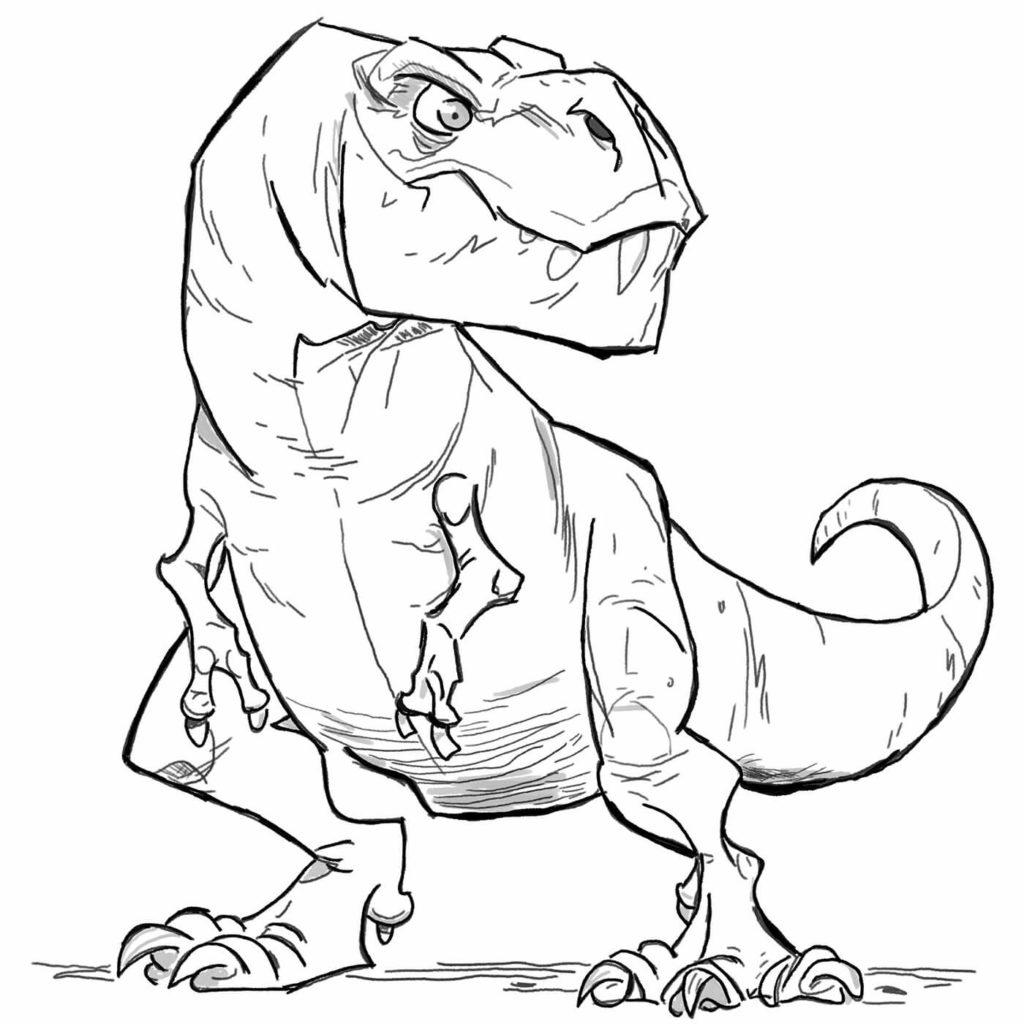 рисунки для срисовки динозавры из мультика
