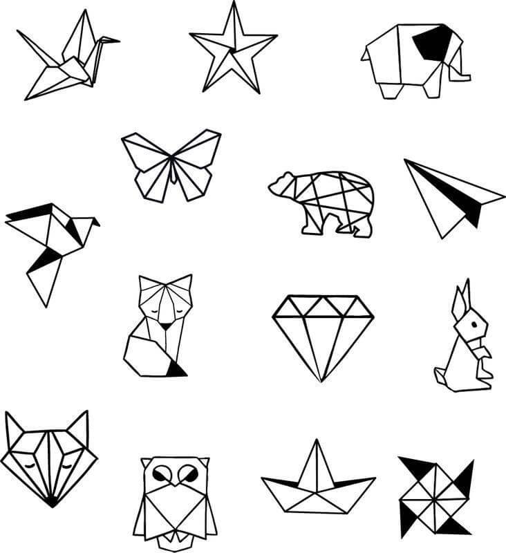 геометрические картинки для срисовки маленькие