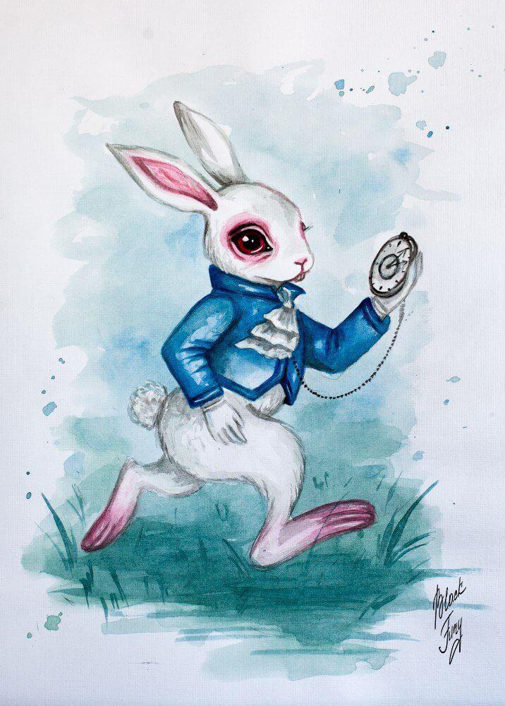 алиса в стране чудес заяц срисовать
