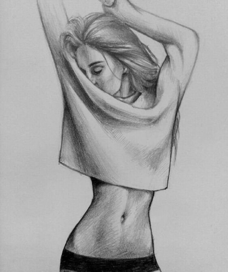 картинки тела для срисовки в одежде