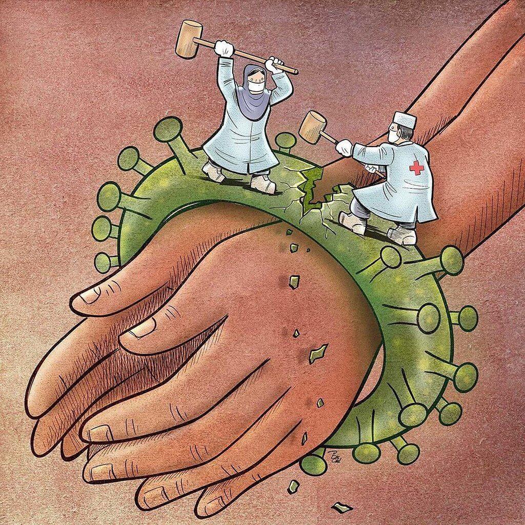 рисунок про коронавирус для срисовки
