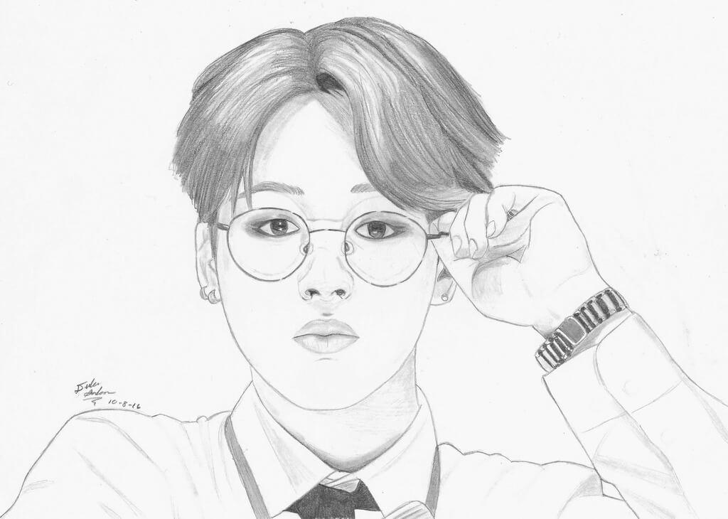 корейские картинки для срисовки парня