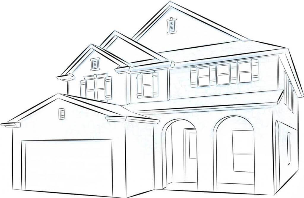 дом для срисовки