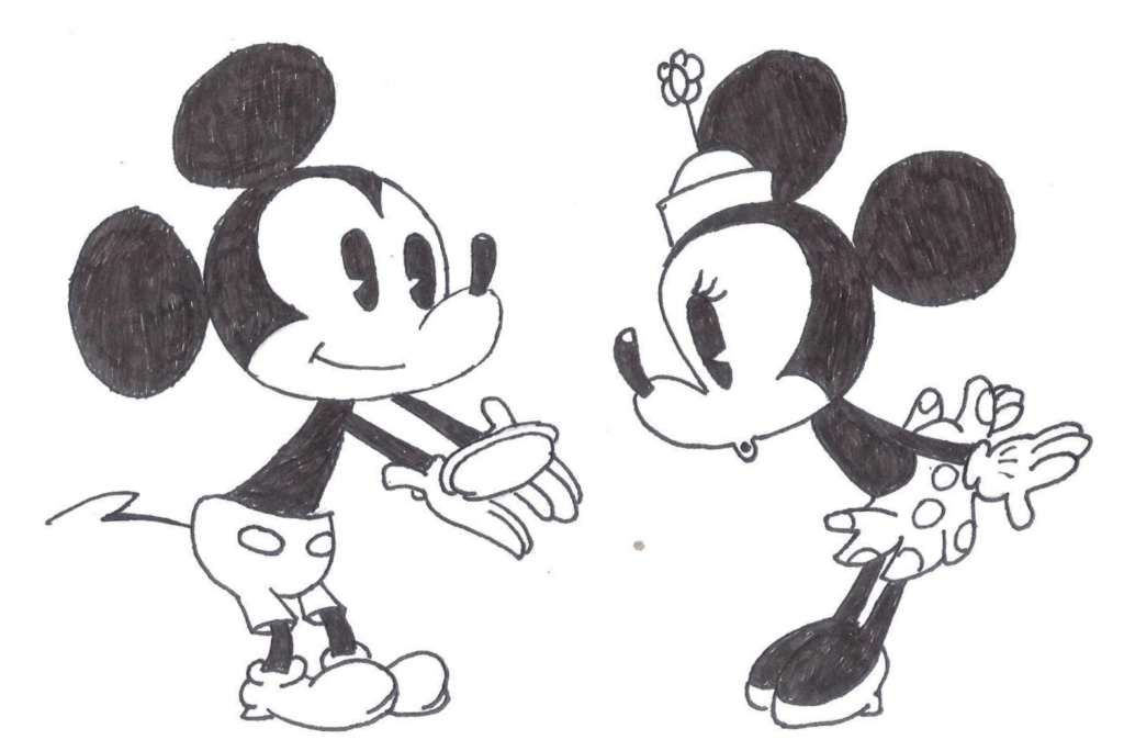 микки маус рисунок для срисовки из мультика